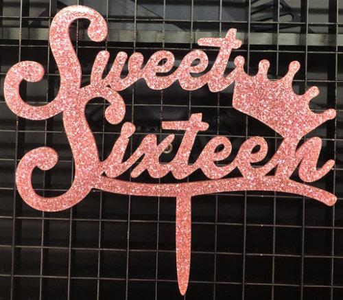 Cake Topper sweet sixteen