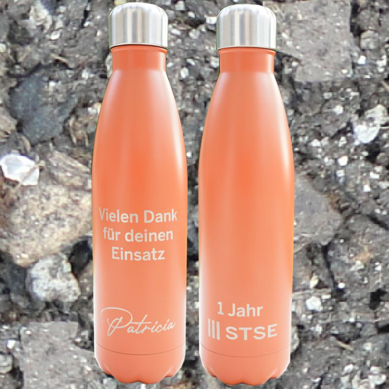 Gravierte Trinkflasche mit persönlicher Widmung