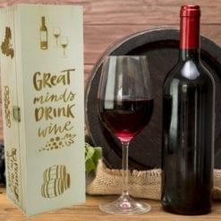 Weinkisten Gravur