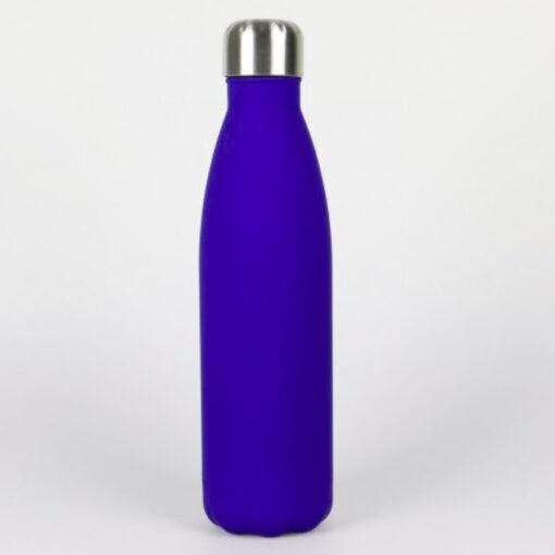 Edelstahl Trinkflasche dunkelblau soft