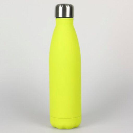 Edelstahl Trinkflasche gelb soft