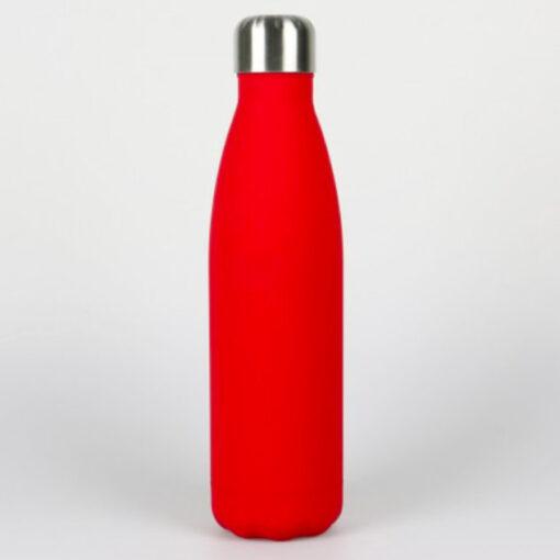 Isolierte Trinkflasche rot soft