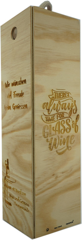 Personalisierte Weinkiste mit Gravur
