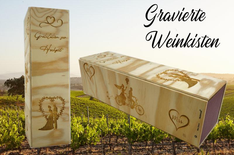 Gravierte Weinkisten