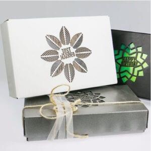 Geschenkboxen verziert