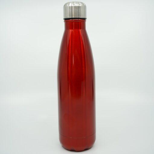 Personalisierte Wasserflasche rot glänzend