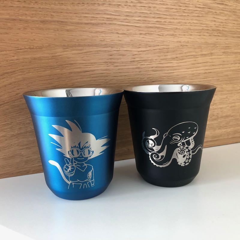 Kaffeebecher Gravur Edelstahl