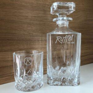 Glasgravur Karaffe Gläser