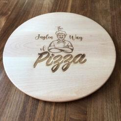 Personalisiertes Pizzabrett graviert